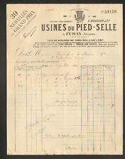 FUMAY (08) USINE DU PIED-SELLE , TOLERIE / APPAREILS de CHAUFFAGE en 1907
