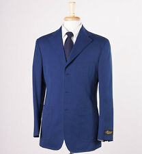 NWT $2175 BELVEST Navy Blue Cotton Blazer Sport Coat 40 R Mother-of-Pearl Btns