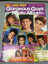 Vintage Tv And Movie Screen Gorgeous Guys Photo Album 25 Color Pin Ups June 1989