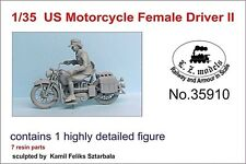 LZ MODELS US MOTORCYCLE FEMALE DRIVER SET2 Scala 1/35 Cod.35910