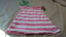 Juicy Couture Beach Surf Royalty Size Small J Zipper Pull Swim Top Pink & White