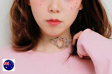 Women Girl retro Clear PVC Heart Choker short Neck Punk Party Goth Necklace