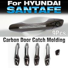Chrome Carbon Door Catch Handle Garnish Molding for HYUNDAI 2013-17 Santa Fe DM