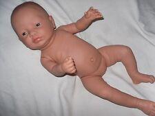 Baby Puppe  Newborn  53 cm Vollvinyl  Mädchen  unbekleidet