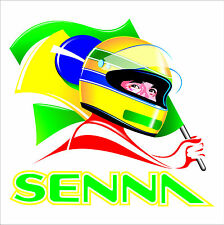 Ayrton Senna formula one sticker/decal F1.. BRAZIL. FORMULA ONE