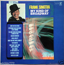 "Frank Sinatra My Kind Of Broadway 1965 LP vinyl 12"" 33rpm rare record (fair)"