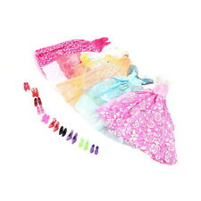 15 Items Fashion Party Daily Wear Dress Outfits Clothes Shoes For Barbie Doll OF