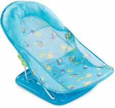 Deluxe Baby Bather Infant Bathtime Safe Head Cradle Support Foldable Seat Blue