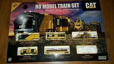 CAT CATERPILLAR Limited EDdition HO TRAIN SET NORSCOT Die Cast Dozer Engine Car