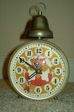 Vintage 1980s Russian Cat & Mouse Novelty Wind-Up Alarm Clock by Jantar - USSR