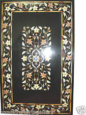2'x3' Marble Dining Center Table Top Pietradure Floral Mosaic Inlay Decor H454