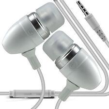 Double Paquet Blanc Mains-libres Écouteurs Avec Micro Pour Samsung Galaxy J1 Ace