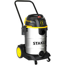 Stanley 8 Gallon 6 peak HP Stainless Steel Wet Dry Vacuum And Accessories NEW
