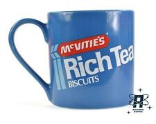 VINTAGE RETRO MCVITIES RICH TEA BISCUIT BLUE CERAMIC COFFEE MUG CUP NEW