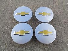 "Chevy Silver 4 Set 2.25"" 58mm wheel rim center caps Impala Malibu Cruze Cobalt"