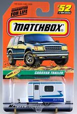 Matchbox MB 52 Caravan Trailer White and Blue Mint On Card 1999
