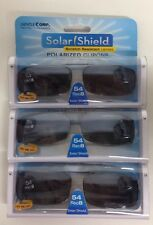 3 SOLAR SHIELD Clip-on Polarized Sunglasses Size 54 Rec 8 Black lens Full Frame