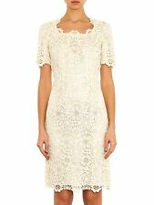 SALE!!! New DOLCE & GABBANA White Lace Macrame Floral Wedding Sicily Dress 44
