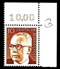 BUND Heinemann  10 Pf. **, Mi. 636,   Eckrandmarke o.r.