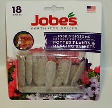 Jobes Fertilizer Plant Food Spikes 8-9-12 For Potted & Hanging Plants 18 Spikes