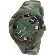 Puma PU103211029 Men's Camouflage Silicone and Dial Watch