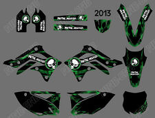 TEAM GRAPHICS BACKGROUNDS DECALS STICKERS For KAWASAKI KX450F KXF450 2013 D3