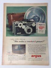 Original Print Ad 1953 ARGUS C3 Camera Wonderful Picture 300 Watt