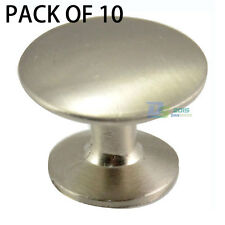 10pcs Stainless Steel Brushed 25mm Kitchen Cabinet Drawer Handle Pull Knobs Lots