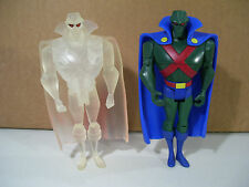 LOT OF 2 JUSTICE LEAGUE UNLIMITED ACTION FIGURES MARTIAN MANHUNTER CLEAR STEALTH