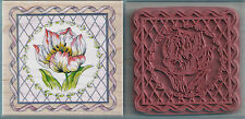 TULIP - RUBBER STAMPEDE TULIP IN SQUARE WOOD BACK RUBBER STAMP