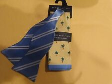 TOMMY HILFIGER BOW TIE & PALM TREE POCKET SQUARE NEW
