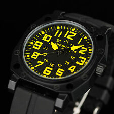 INFANTRY INFILTRATOR Mens Quartz Analog Wrist Watch Sport Military Black Rubber