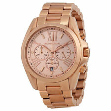 100% NEW Michael Kors Bradshaw Chronograph Rose Gold-tone Watch MK5503