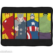 """Marvel Avengers Minimalist Art Fleece Throw Blanket 45"""" x 60"""" Hulk Thor Iron Man"""