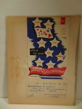 scrap book page w/ cover of 1948 Hawaii State Fair Program