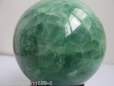 64mm Glow In The Dark Stone crystal Fluorite sphere ball AA