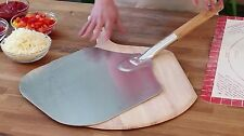 Aluminum Spatula 14in Wide Pastry Dough Paddle Bread Lifter w/8in Wooden Handle