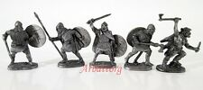 """Tin Soldiers 40mm set 5 items """"Vikings"""" Figurines Statues #03"""