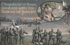 Fröhliche Ostergrüße Künstler-AK 1915 Soldaten Militaria WW I Easter 1703173