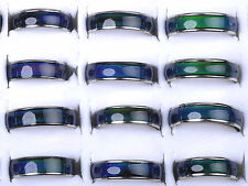 Yeah 10Pcs Wholesale Jewelery Bulks Mixed Change Color Silver Plated Mood Rings