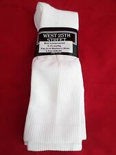 3 Pair West 25th Street Mild Compression Knee Hi Sock White Made in USA 5-10