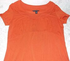 Banana Republic Crewneck Blouse Sexy Women's Short Sleeve Tee Size S in Orange
