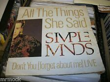 """SIMPLE MINDS- ALL THE THINGS SHE SAID VINYL 7"""" 45RPM PS"""