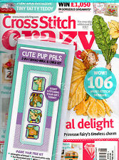 Cross Stitch Crazy Magazine NEW w/ Cute Pup Pals 2 in 1 Kit