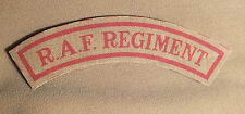Khaki RAF Regiment mudguards reproduction printed badges WWII WW2