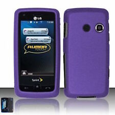 For LG Rumor Touch LN510 Banter Touch UN510 Hard Case Phone Cover Rubber Purple