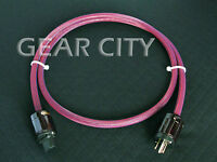 cpv4s 1.5m 5ft 12mm US Mains Power OFC Cable Shield Cord IEC Plug Tube Amp HiFi