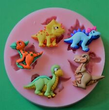 BABY DINOSAURS SILICONE MOULD FOR CAKE TOPPERS, CHOCOLATE, CLAY ETC