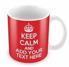 PERSONALISED KEEP CALM & CARRY ON MUG Add your own text retro cup gift idea