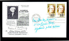 CANADA #622  NELLIE MC CLUNG  #6 ENVELOPE  FDC  8/9/73  USED  a